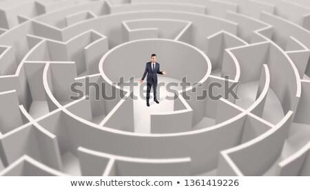 moeilijk · keuzes · crisis · business · 3d · illustration · stijl - stockfoto © ra2studio