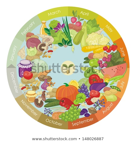 grape and pear garden beetroot and potato vector stock photo © robuart
