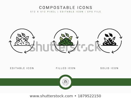 Сток-фото: экология · линия · дизайна · стиль · Баннеры · набор