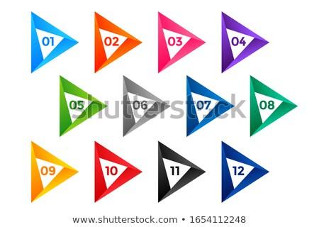arrow style number bullet points till twelve Stock photo © SArts