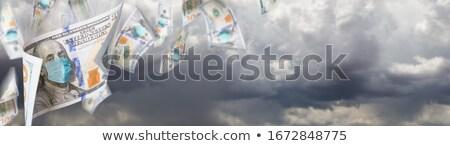 Stockfoto: 100 · gezicht · masker · vallen · stormachtig
