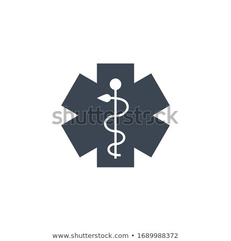 Emergência estrela vetor ícone isolado branco Foto stock © smoki