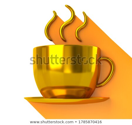 Golden Coffee Cup stock photo © mammothis