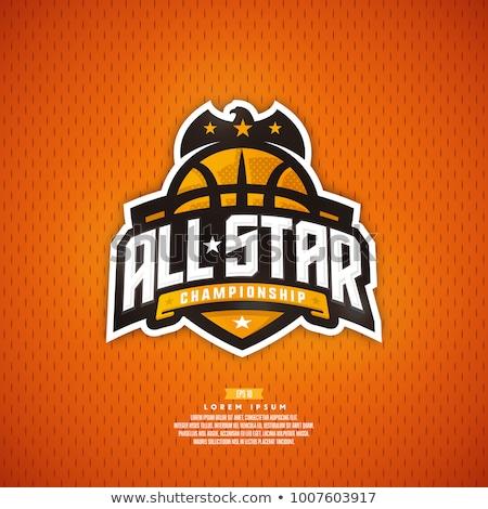 バスケットボール 星 ヴィンテージ スタイル ベクトル ストックフォト © squarelogo