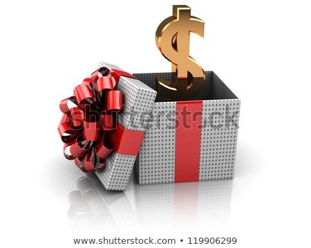 Signe du dollar à l'intérieur illustration design argent Photo stock © alexmillos