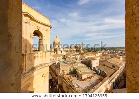 Catedral cidade velha sicília Itália barroco estilo Foto stock © CaptureLight