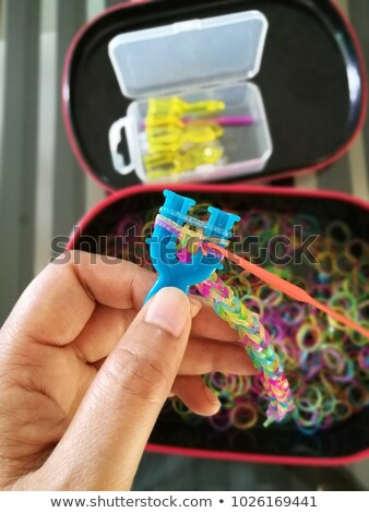 Rubber Loom Band Making Stock photo © rghenry