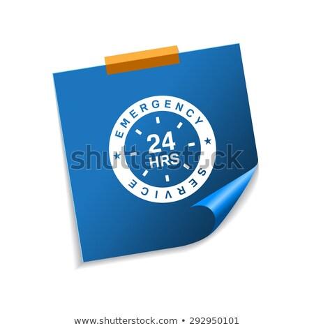 24 usługi niebieski karteczki wektora ikona Zdjęcia stock © rizwanali3d