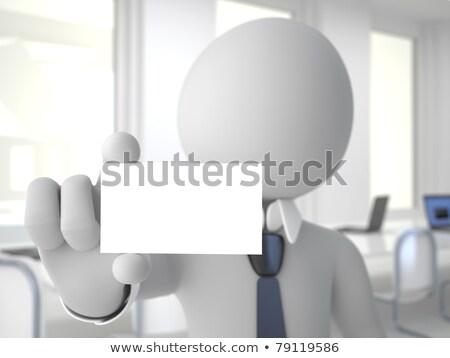 3d man bord blanche haut angle vue Photo stock © nithin_abraham