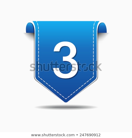 3 Number Vector blue Web Icon Stock photo © rizwanali3d