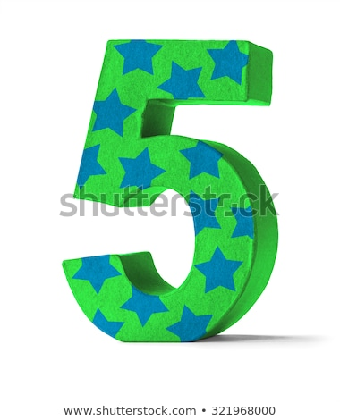 Colorful Paper Mache Number on a white background  - Number 55 Stock photo © Zerbor