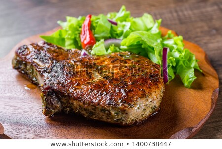 marinated pork chop and vegetable salad stock photo © digifoodstock