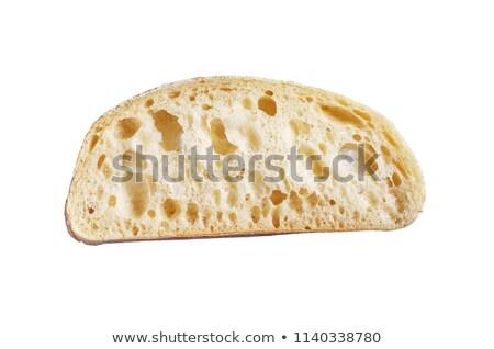 スライス · 白パン · 木製 · ガラス · ボウル - ストックフォト © digifoodstock