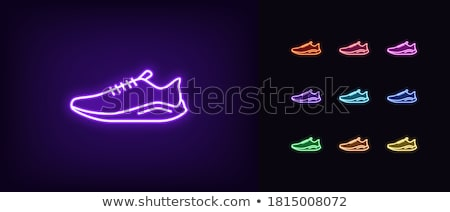 Isolated Violet Sport Footwear. Illustration of Sneaker Stock photo © robuart