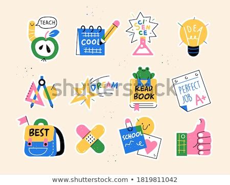 Ingesteld school studenten studeren illustratie business Stockfoto © bluering