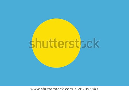 Palau bandeira branco mundo pintar escove Foto stock © butenkow