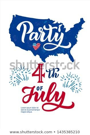Gün ABD parti uçan örnek bayrak Stok fotoğraf © articular