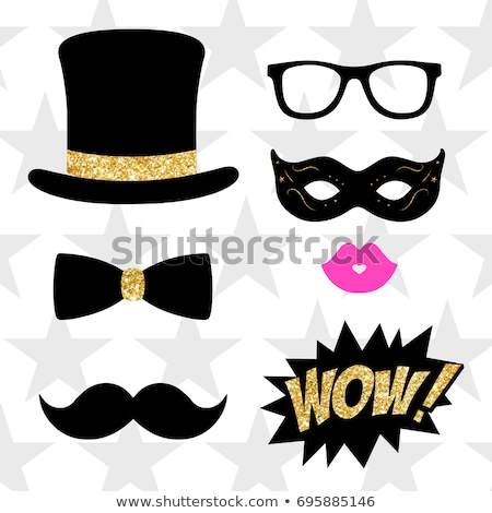 Photo booth props for weddings, party. Mustache, glasses, lips. stock photo © AisberG
