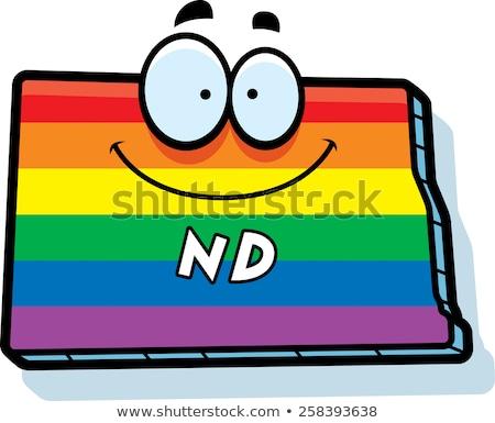 Cartoon Dakota del Nord matrimonio gay illustrazione sorridere Rainbow Foto d'archivio © cthoman
