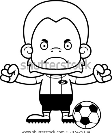Cartoon Angry Soccer Player Orangutan Stock photo © cthoman