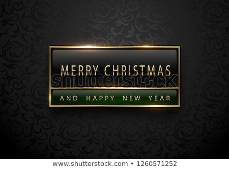Alegre feliz año nuevo banner prima negro verde Foto stock © Iaroslava