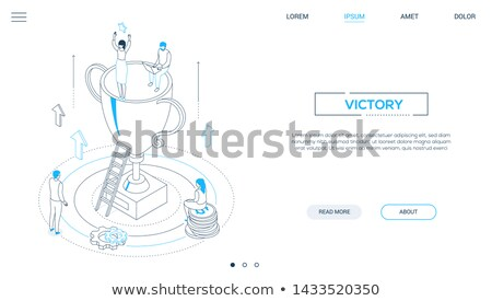 Financial success - modern isometric vector web banner Stock photo © Decorwithme