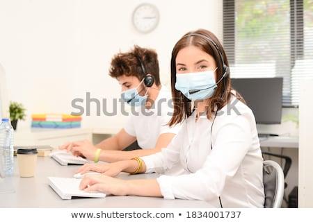 улыбаясь секретарь бизнеса девушки работу учитель Сток-фото © Minervastock