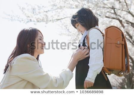 Cute родителей ребенка вход церемония иллюстрация Сток-фото © Blue_daemon