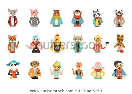 vector set of animal office worker Stock photo © olllikeballoon