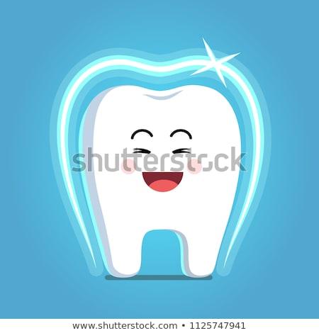 сильный Cartoon зубов характер Сток-фото © doomko