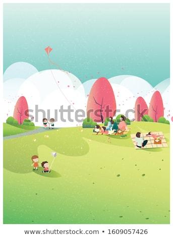 遊び場 · セット · ベクトル · 子供 · 子供演奏 - ストックフォト © colematt
