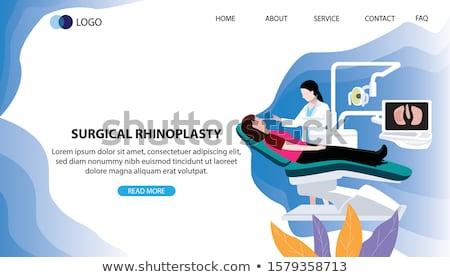 Rhinoplasty concept landing page. Stock photo © RAStudio