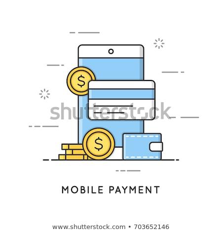 Pagamento transferência de dinheiro financeiro serviços compras on-line fácil Foto stock © RAStudio