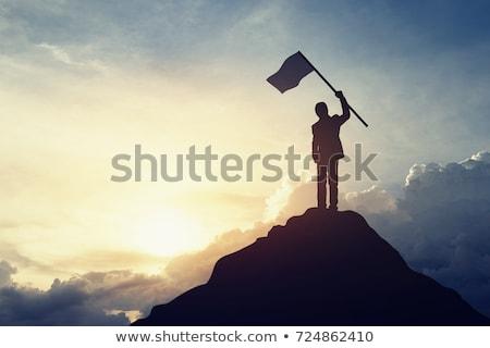 Erreicht Business Ziel gut aussehend glücklich Geschäftsmann Stock foto © lichtmeister