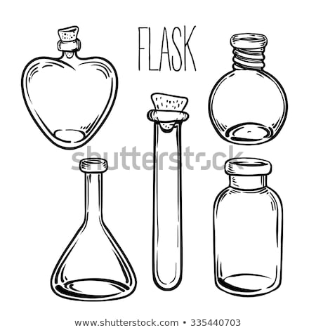 Potion Bottle In Heart Shape Color Vector Stock photo © pikepicture