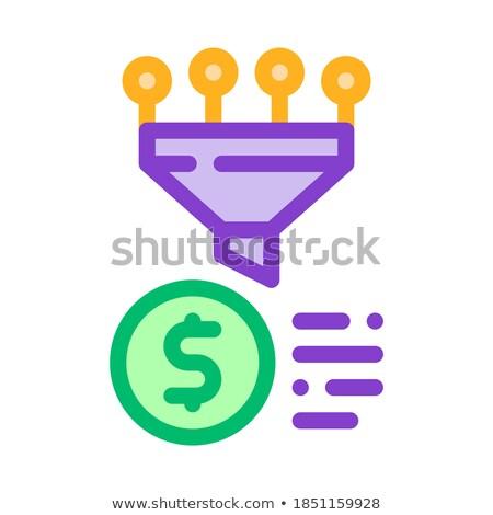 Tölcsér pénzügyi információ gyűlés vektor ikon Stock fotó © pikepicture