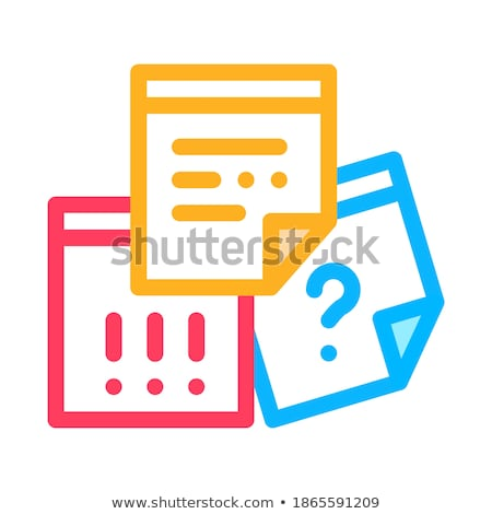paper question and exclamatory sign agile vector stock photo © pikepicture