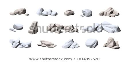 Stone Pile Cobblestone Boulder Color Vector Stock photo © pikepicture