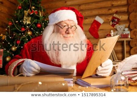 サンタクロース 白 あごひげ 座って 表 見える ストックフォト © pressmaster