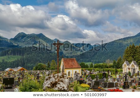 cemetery in Mariazell, Austria Stock photo © borisb17