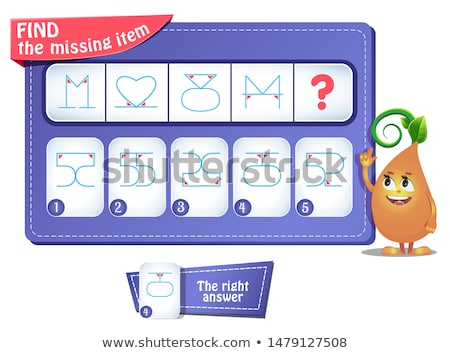 game puzzle iq comes next numerals Stock photo © Olena