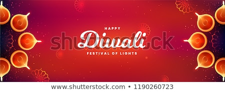 ethnic indian diwali festival red banner design Stock photo © SArts