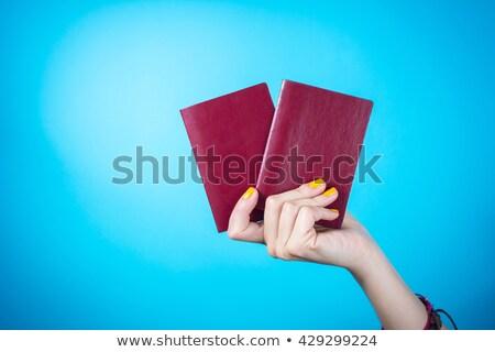 Vrouw twee hand man vrouwen Stockfoto © AndreyPopov