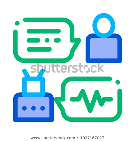 Connection Function Device Voice Control Icon Vector Illustration Stock photo © pikepicture