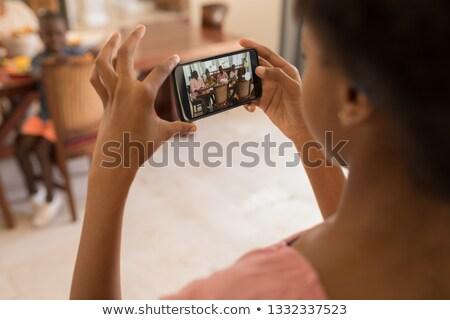 Hombro vista nina toma foto Foto stock © wavebreak_media