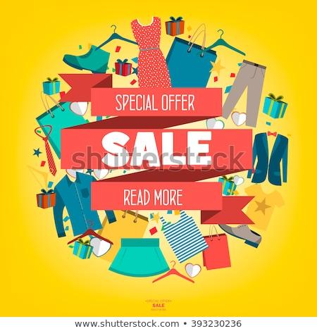 Verkoop kleding banner mode kleding Stockfoto © Margolana