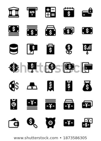 Stok fotoğraf: Nakit · ödeme · vektör · ikon · yalıtılmış · beyaz