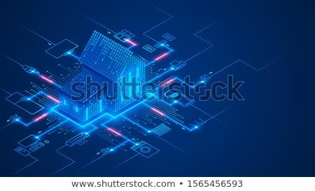 vektör · akıllı · ev · izometrik · ev - stok fotoğraf © rastudio