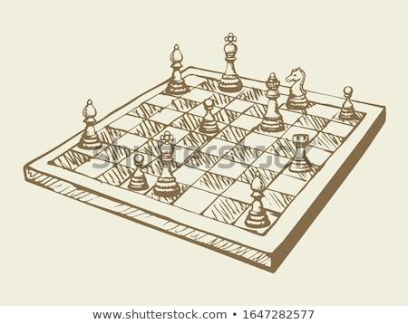 Strategy Game Chess, Checkered Board and Figures Stock photo © robuart