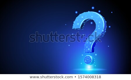Question Mark - Polygonal Neon Symbol Low Poly Repeat Help Support Concept Foto stock © Tashatuvango